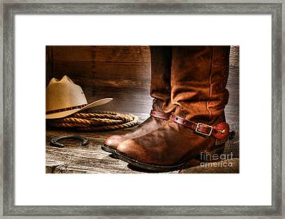 The Boots Framed Print by Olivier Le Queinec