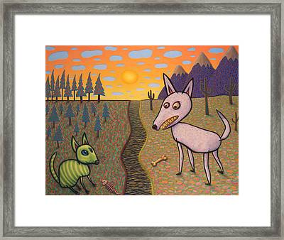 The Border Framed Print by James W Johnson