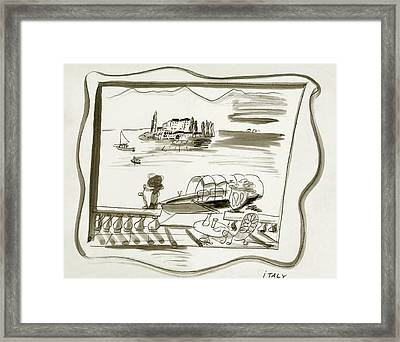 The Borromean Island On Lake Maggiore In Italy Framed Print by Ludwig Bemelmans