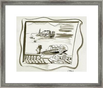 The Borromean Island On Lake Maggiore In Italy Framed Print