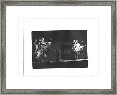 The Boss And Clarence 2 Framed Print by Bc Adamkowski