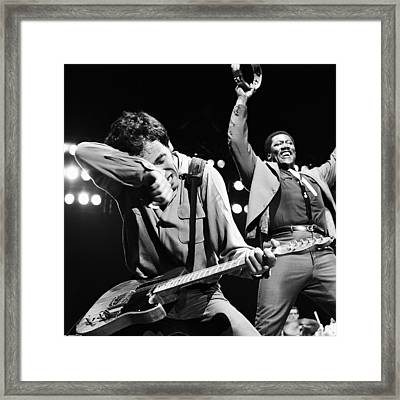 The Boss And The Big Man - Square Framed Print