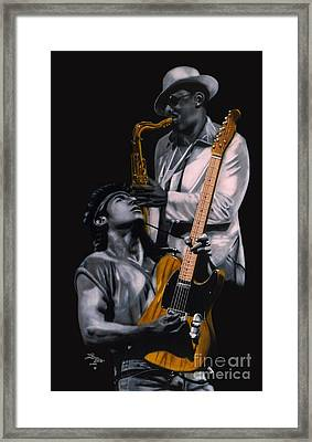 Bruce Springsteen And Clarence Clemons Framed Print by Thomas J Herring