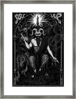 The Boss Blackgrey Framed Print