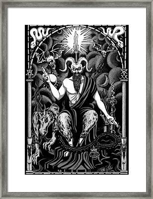 The Boss Blackwhite Framed Print