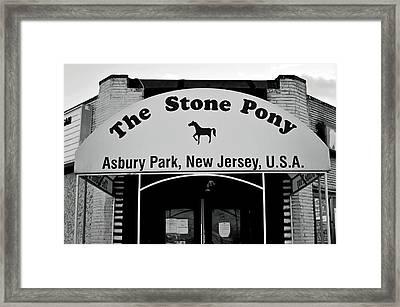 The Boss Stone Pony Asbury Park Framed Print