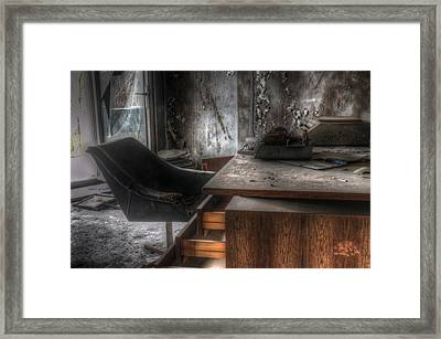 The Boss's Chair  Framed Print by Nathan Wright