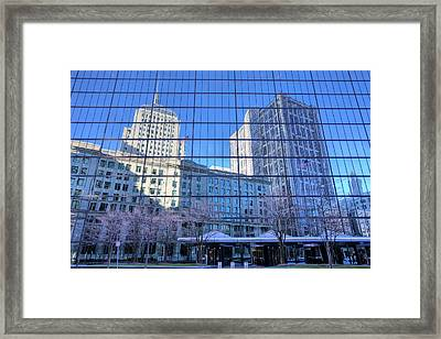 The Boston Skyline Framed Print by JC Findley