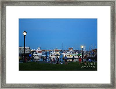 The Boston Wharf In The Early Evening Framed Print by Dora Sofia Caputo Photographic Art and Design