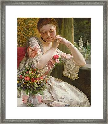 The Bouquet Framed Print by Albert Raudnitz