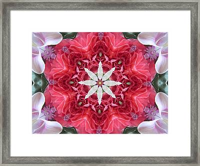 The Bouquet Mandala Framed Print