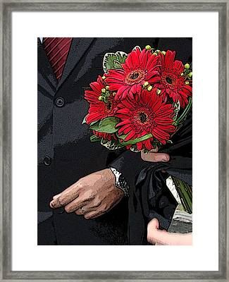 Framed Print featuring the photograph The Bouquet by Zinvolle Art