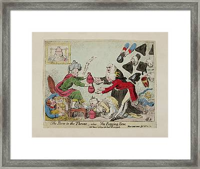 The Bow To The Throne Framed Print