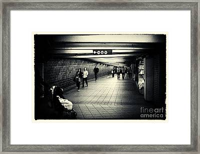 The Bowels Of The Subway New York City Framed Print