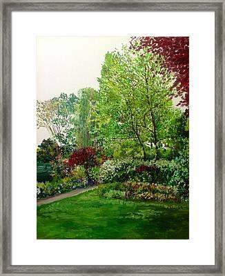 The Bower Framed Print by Aditi Bhatt