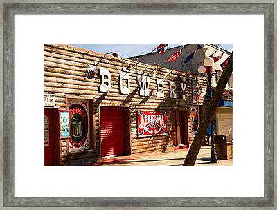 The Bowery Myrtle Beach Framed Print