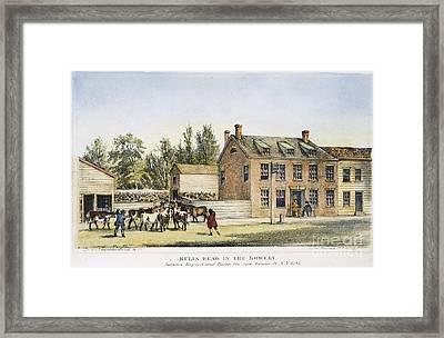 The Bowery, New York, 1783 Framed Print