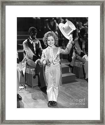 The Bowery Princess - Shirley Temple Framed Print by MMG Archives