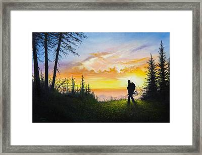 The Bowhunter Framed Print by C Steele