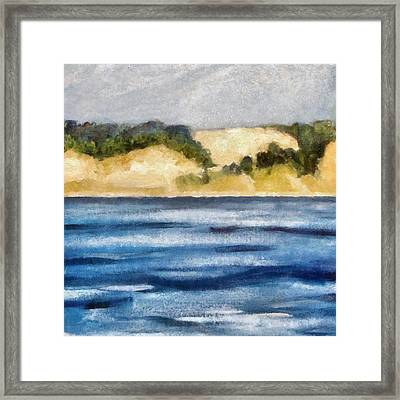The Bowl - Dunes Study 2 Framed Print by Michelle Calkins