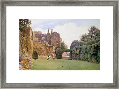 The Bowling Green, Berkeley Castle Framed Print by George Samuel Elgood