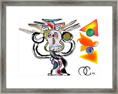 The Boxer Framed Print by Andy Cordan