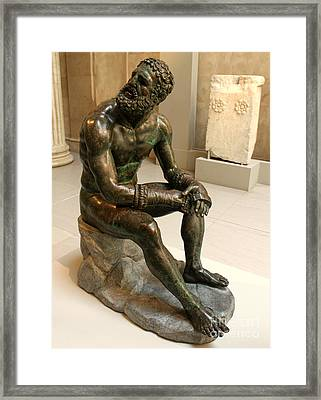 The Boxer - Seated Pose Framed Print