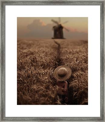 The Boy In The Field Framed Print