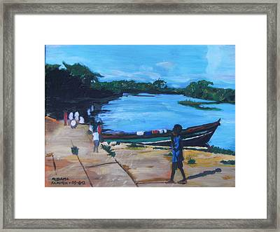 The Boy Porter  Sierra Leone Framed Print by Mudiama Kammoh
