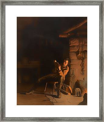 The Boyhood Of Lincoln Framed Print by Mountain Dreams