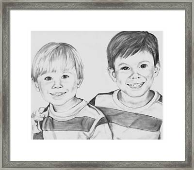 The Boys Framed Print by Barb Baker