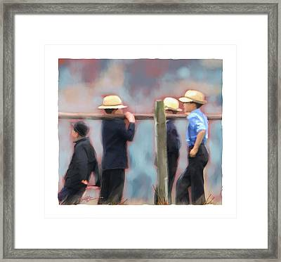 Framed Print featuring the painting The Boys by Bob Salo