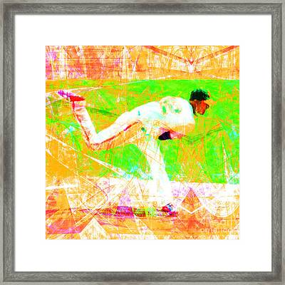 The Boys Of Summer 5d28161 The Pitcher V1 Square Framed Print by Wingsdomain Art and Photography