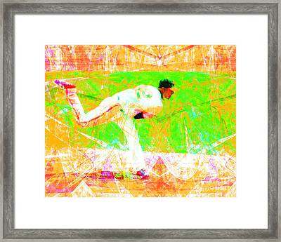 The Boys Of Summer 5d28161 The Pitcher V1 Framed Print by Wingsdomain Art and Photography