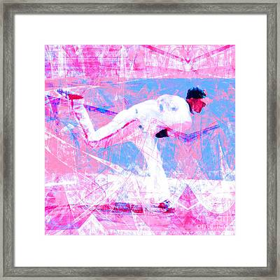 The Boys Of Summer 5d28161 The Pitcher V2 Square Framed Print by Wingsdomain Art and Photography