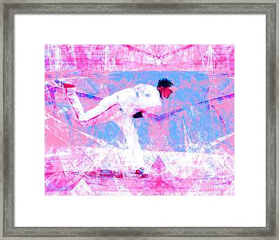 The Boys Of Summer 5d28161 The Pitcher V2 Framed Print by Wingsdomain Art and Photography