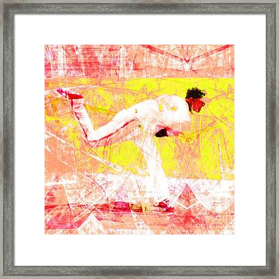 The Boys Of Summer 5d28161 The Pitcher V3 Square Framed Print by Wingsdomain Art and Photography