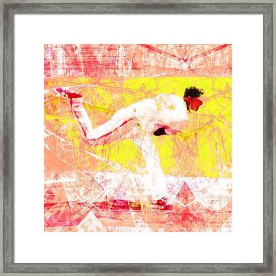 The Boys Of Summer 5d28161 The Pitcher V3 Square Framed Print