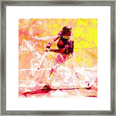 The Boys Of Summer 5d28228 The Batter Square V2 Framed Print