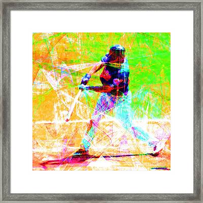 The Boys Of Summer 5d28228 The Batter Square Framed Print