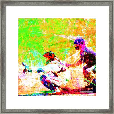 The Boys Of Summer 5d28228 The Catcher Square Framed Print by Wingsdomain Art and Photography