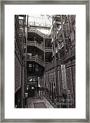 The Bradbury Building Framed Print by Gregory Dyer