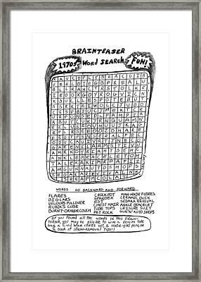 The Brainteaser Word Search Framed Print