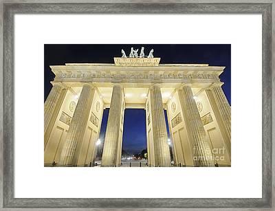 The Brandenburg Gate At Night Framed Print