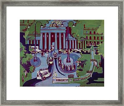 The Brandenburg Gate Berlin Framed Print by Ernst Ludwig Kirchner