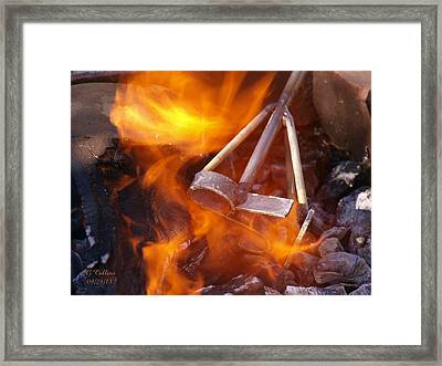 The Branding Fire Framed Print