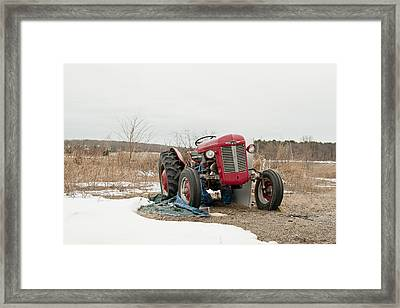 The Brave Little Tractor Framed Print by Eugene Bergeron