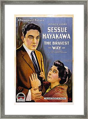 The Bravest Way, Us Poster Art, Sessue Framed Print by Everett
