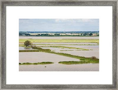 The Breach At Alkborough Framed Print