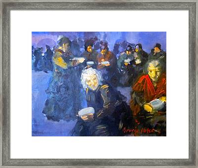The Bread Line Framed Print by George Benjamin Luks